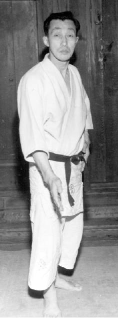 A young Sensei Tomiki